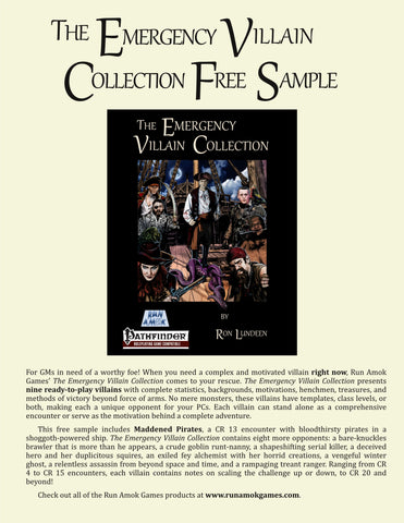 The Emergency Villain Collection Free Sample