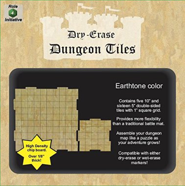 Dry Erase Dungeon Tiles-Earthtone Combo Pack (5 10