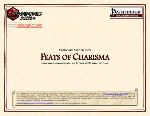 Feats of Charisma