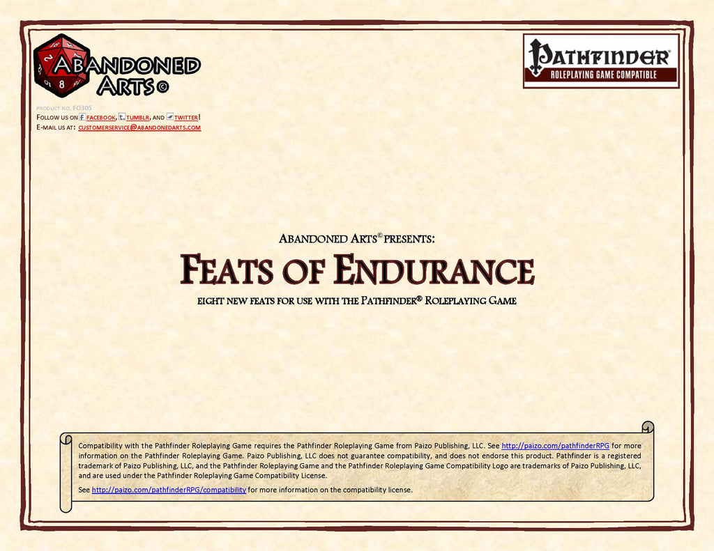 Feats of Endurance