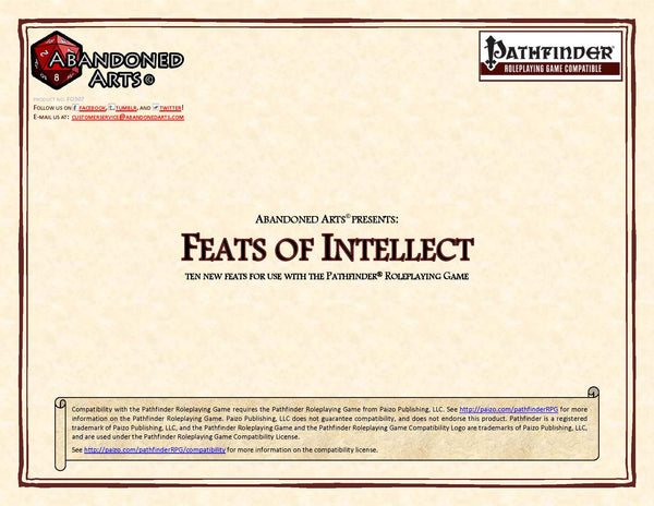 Feats of Intellect