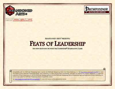 Feats of Leadership
