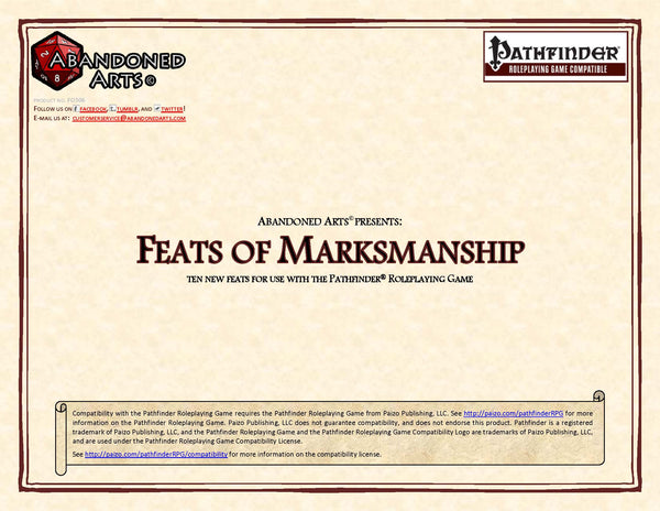 Feats of Marksmanship