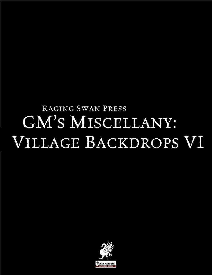 GM's Miscellany: Village Backdrop VI