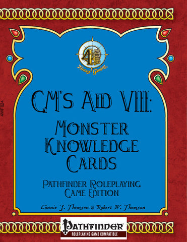 GM's Aid VIII: Monster Knowledge Cards