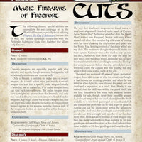 Pathfinder Short Cuts: Magic Firearms of Freeport