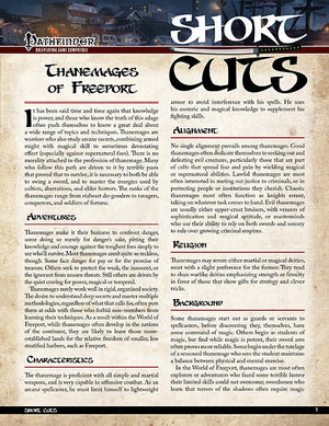 Pathfinder Short Cuts: Thanemages of Freeport
