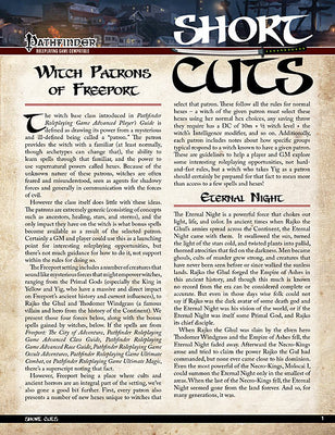 Pathfinder Short Cuts: Witch Patrons of Freeport