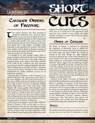 Pathfinder Short Cuts: Cavalier Orders of Freeport