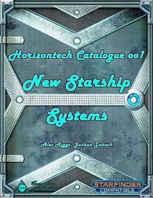 Horizontech Catalogue 001 - New Starship Systems