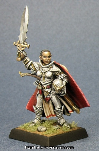 Seelah, Iconic Female Paladin (Pathfinder Miniature)