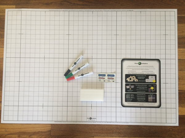 "Dry Erase Doubled Sided Battlemat - 24"" x 36"""