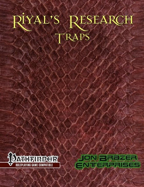Riyals Research: Traps (PFRPG)