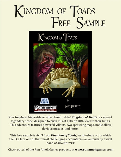 Kingdom of Toads Free Sample