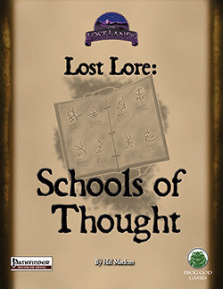 Lost Lore: Schools of Thought (PFRPG)