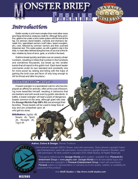 Monster Brief: Goblins