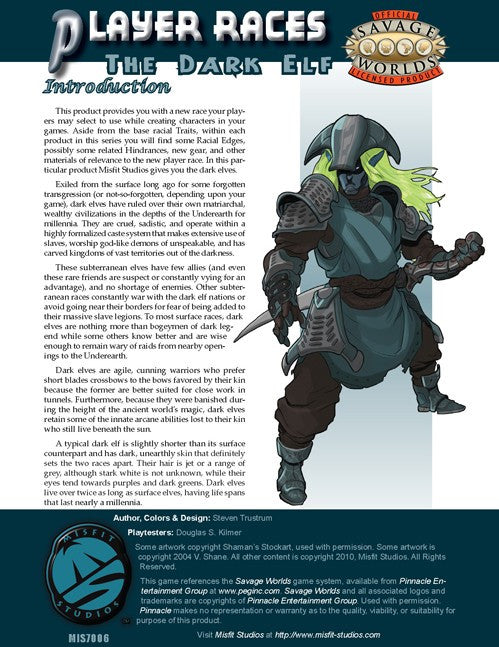 Player Races: the Dark Elf