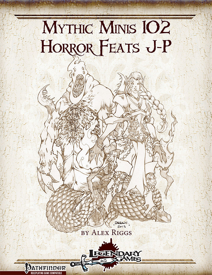 Mythic Minis 102: Horror Feats J-P
