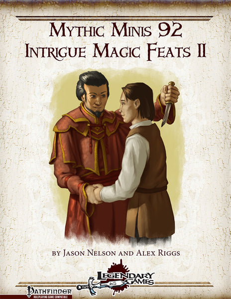 Mythic Minis 92: Intrigue Magic Feats II