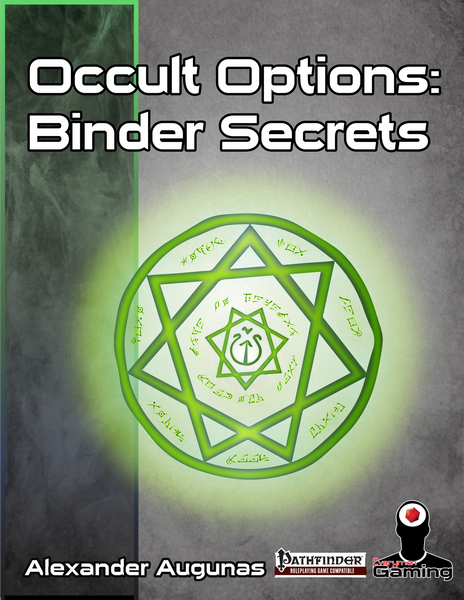 Occult Options 1 - Binder Secrets