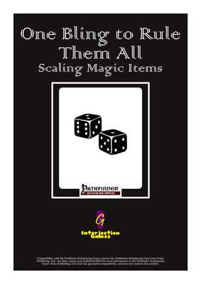 One Bling to Rule Them All - Scaling Magic Items