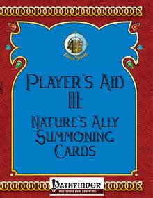 Player's Aid III: Nature's Ally Summoning Cards