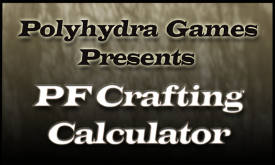 Pathfinder Crafting Calculator