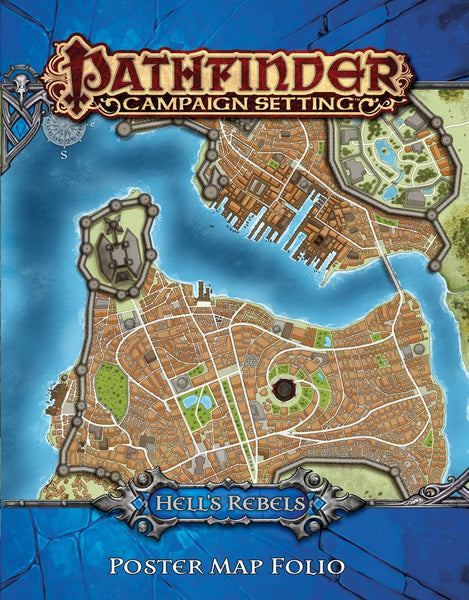Hell's Rebels Poster Map Folio (Pathfinder Campaign Setting)
