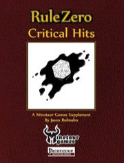Rule Zero: Critical Hits