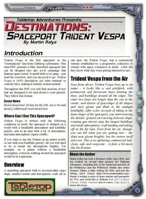 Destinations: Spaceport Trident Vespa