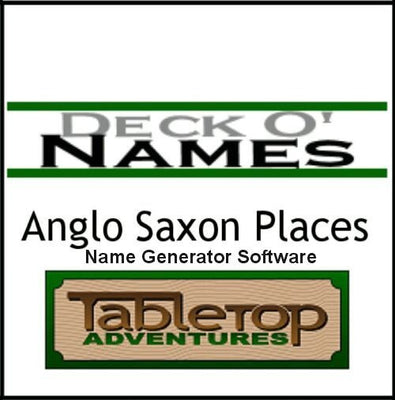Deck O' Names: Anglo Saxon Places Generator