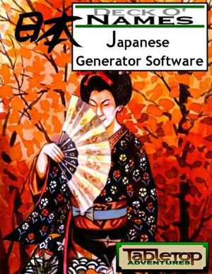 Deck O' Names: Japanese Generator Software
