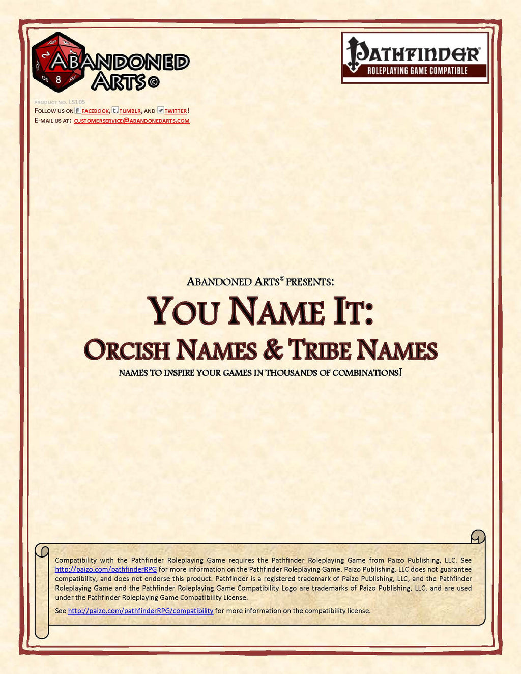 You Name It: Orcish Names & Tribe Names