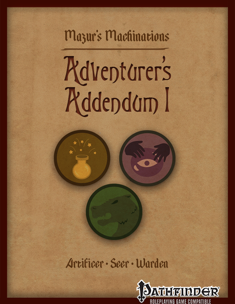 Adventurer's Addendum 1