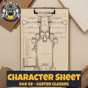Custom Character Sheet - D&D5e - Caster Theme