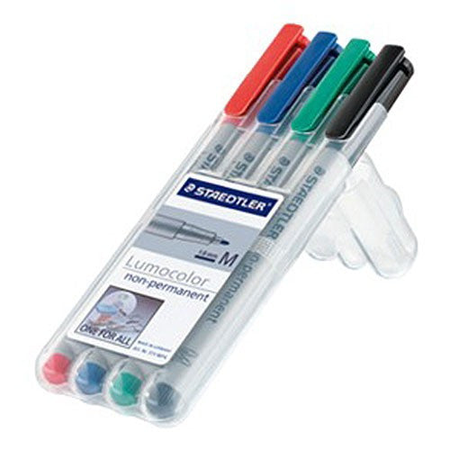 Staedtler 4-color Wet Erase Marker Pack (4 Markers)