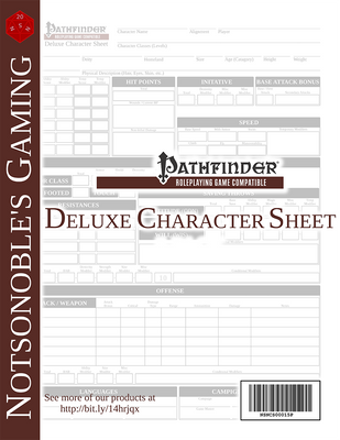Deluxe Pathfinder Character Sheet (Form-fillable)