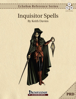 Echelon Reference Series: Inquisitor Spells (PRD-Only)