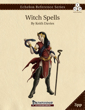 Echelon Reference Series: Witch Spells (3pp+PRD)