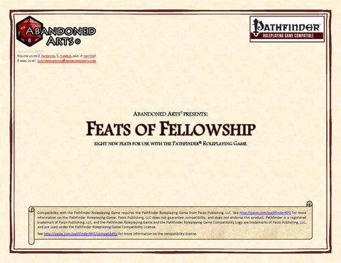Feats of Fellowship
