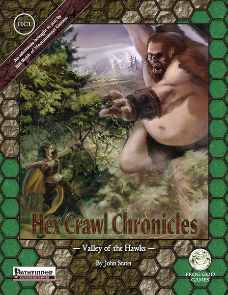 Hex Crawl Chronicles 1 Valley of the Hawks (PFRPG)