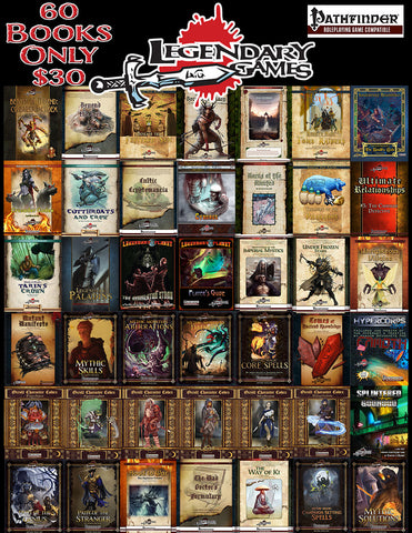 60 Books - 30 Bucks - Legendary Games Mega Bundle!