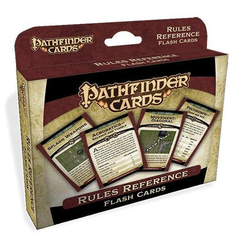 Pathfinder Cards: Rules Reference Flash Cards