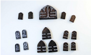 28mm Hand Painted Terrain Accessories: Doors Pack