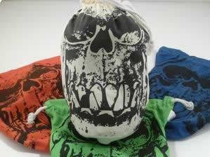 Orc Skull Dice Bag (Extra Large, Ivory)
