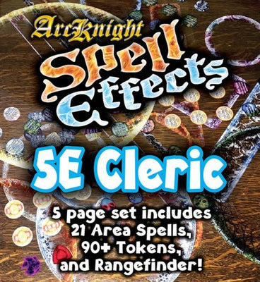 D&D 5th Edition RPG: Spell Effects - Cleric