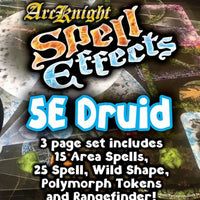 D&D 5th Edition RPG: Spell Effects - Druid