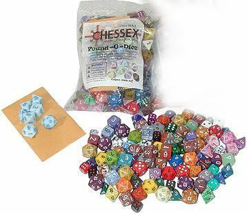 Chessex Bulk Dice Sets: Assorted Polyhedral Pound of Dice (1 lb.)