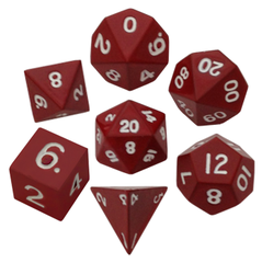 16mm Color Painted Metal Polyhedral Dice Set