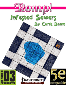 Romp! Infested Sewers Adventure Tiles